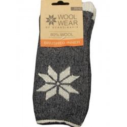 Wool Wear koksgrå - stjerne