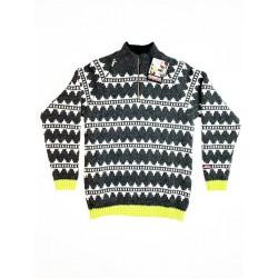 Islandsk sweater - Grå/Hvid